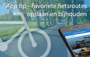 Favoriete fietsroutes opslaan en bijhouden