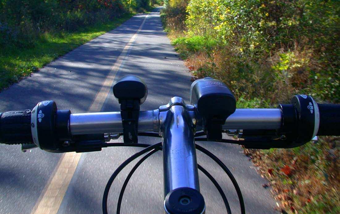 Fietsroute fietsen