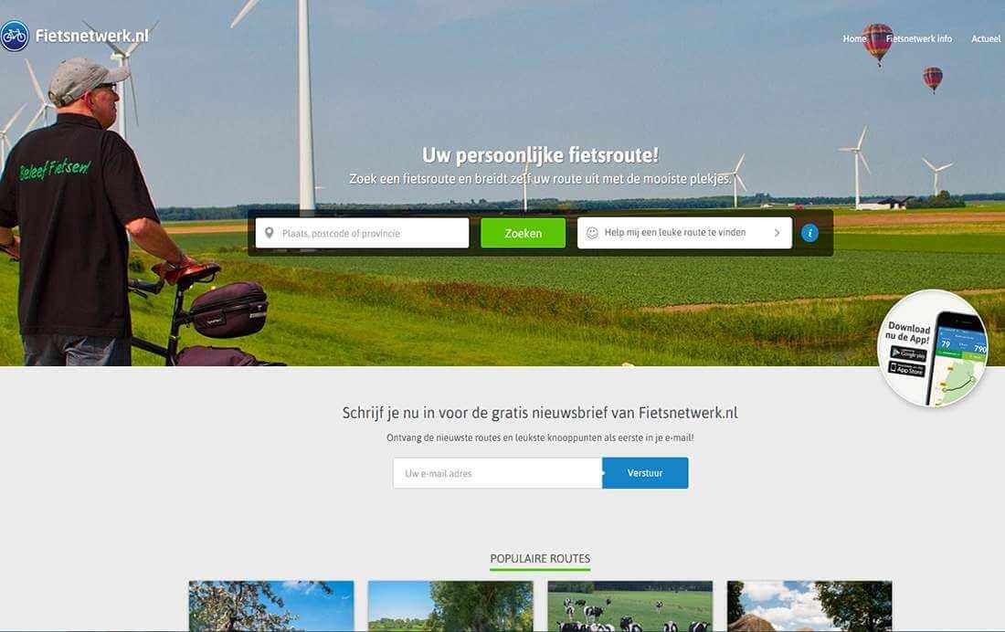 Fietsnetwerk Feiten deel 1: Fietsnetwerk Website