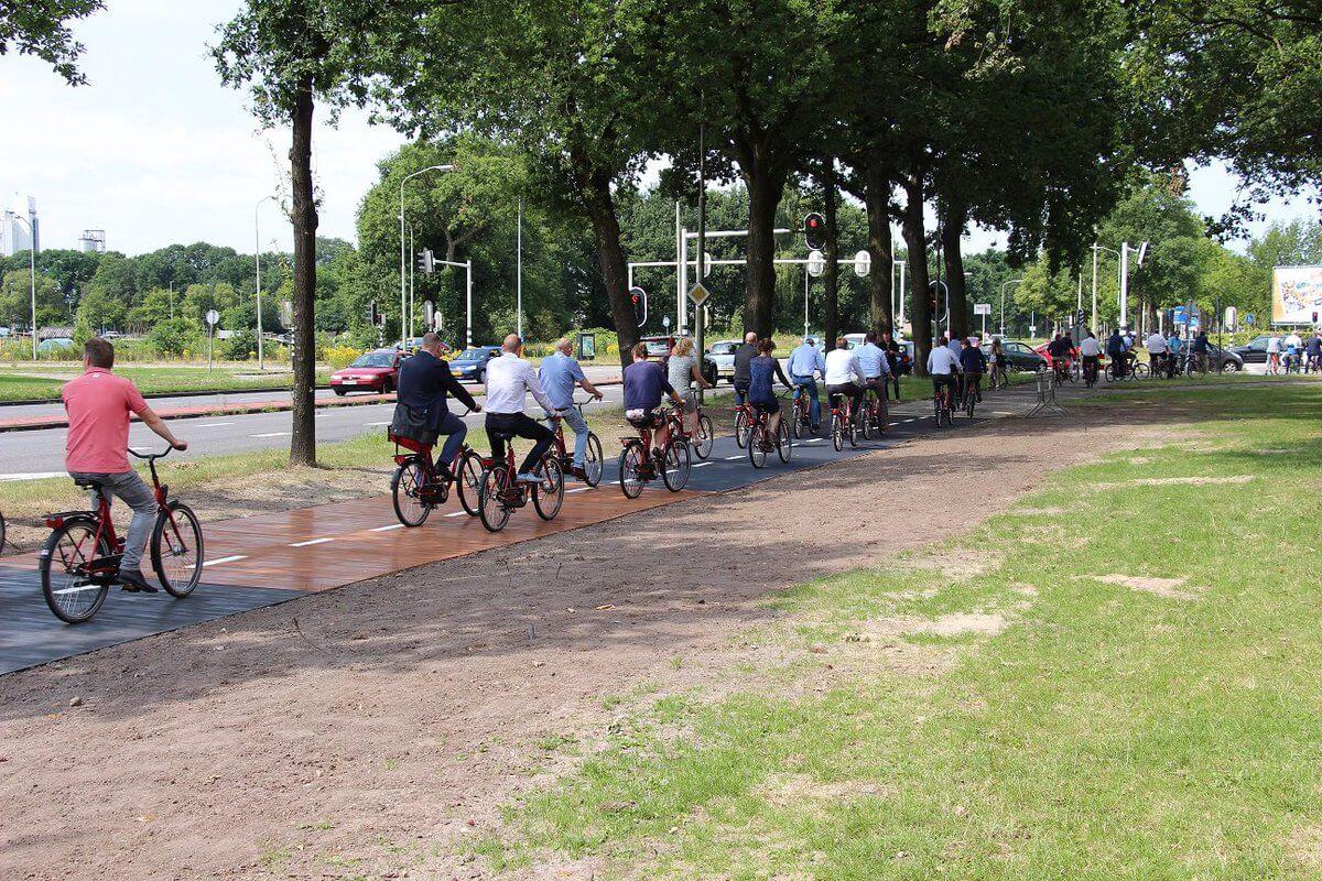 Fietspad van Biocomposiet in Drenthe