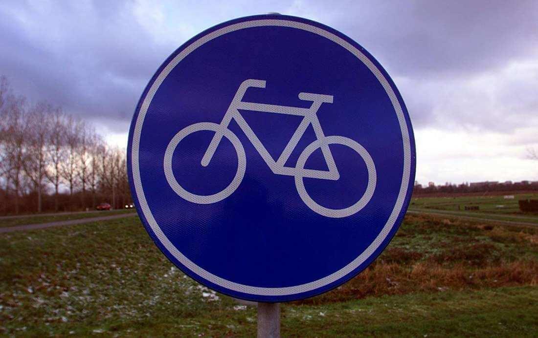 Een fietspad van wc-papier?