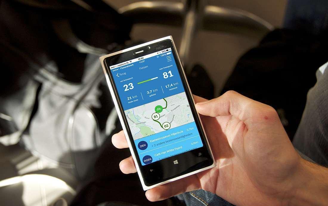 Nieuwe update App maakt fietsroutes nog zorgelozer