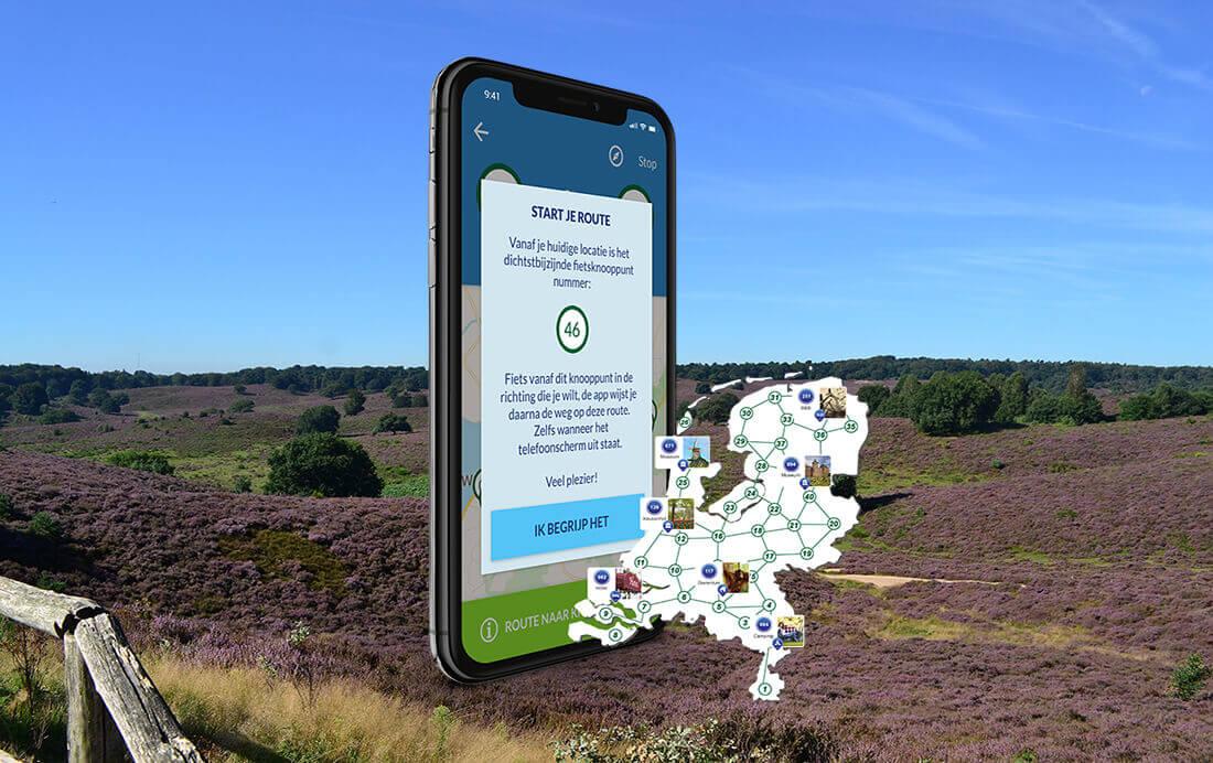 Ontspannen op stap met de fietsroute app